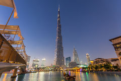 Burj Khalifa, światowy ` s wysoki drapacz chmur, Dubaj, Zjednoczone Emiraty Arabskie Fotografia Royalty Free