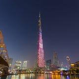 Burj Khalifa, world`s tallest skyscraper, Dubai, United Arab Emirates. Dubai, UAE - Feb 20, 2016: Burj Khalifa, world`s tallest skyscraper, Downtown Burj Dubai stock photography