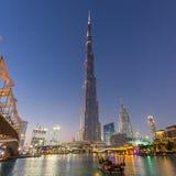 Burj Khalifa, world`s tallest skyscraper, Dubai, United Arab Emirates. Dubai, UAE - Feb 20, 2016: Burj Khalifa, world`s tallest skyscraper, Downtown Burj Dubai royalty free stock photo