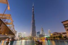 Burj Khalifa, world`s tallest skyscraper, Dubai, United Arab Emirates. Dubai, UAE - Feb 20, 2016: Burj Khalifa, world`s tallest skyscraper, Downtown Burj Dubai royalty free stock photography