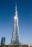 Burj Khalifa - the world's tallest tower at Downtown Burj Dubai Royalty Free Stock Images