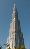 Burj Khalifa - the world's tallest tower in Dubai Royalty Free Stock Image
