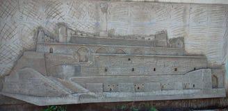 Burj na arte da parede, Kurnool Andhra Pradesh de Kondareddy foto de stock