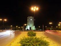 Burj an Nahdah, Salalah. A clock tower placed on a roundabout in Salalah Royalty Free Stock Photo