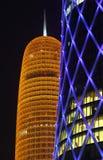 Burj Qatar e torretta di QIPCO, Doha Fotografia Stock