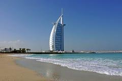 burjdubai för al arabiskt hotell Arkivbilder