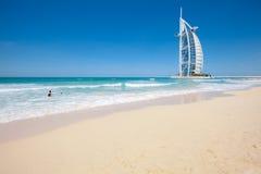 burjdubai för al arabiskt hotell Arkivfoto
