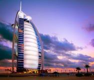 burjdubai för al arabiskt hotell Arkivbild