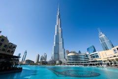 burjdubai khalifa Royaltyfria Bilder