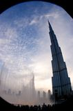 burjdubai khalifa Royaltyfri Bild