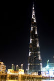 Burjen Khalifa Dubai, Förenade Arabemiraten Arkivfoto