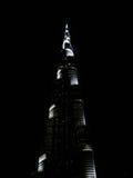 Burjen Khalifa vid natt Royaltyfri Foto