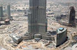 burjkonstruktionsdubai khalifa Royaltyfri Foto