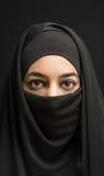 burka的妇女 免版税图库摄影