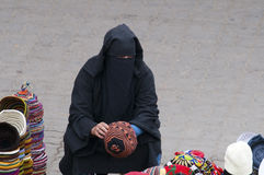 burkamarrakesh morocco kvinnor Arkivbilder