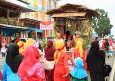 burkas的回教妇女从Java 图库摄影