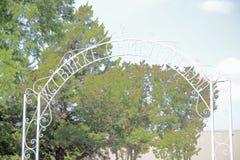 Burke Cemetery Established 1950, vooruit met een waarde van, Texas Stock Foto