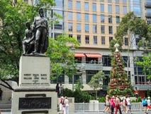Burke et statue de volontés sur le coin de Collins et de la rue de Swanston, Melbourne image stock