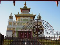Burkhan Bakshin Altan Sume The Golden Abode of the Buddha Shakyamuni is the main touristic attraction in the capital of Kalmykia.  stock image