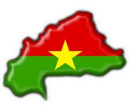 Burkina faso button flag map shape Stock Photography
