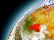 Burkina Faso de la órbita de Earth modelo Foto de archivo libre de regalías