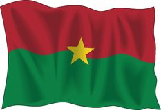 Burkina Faso flag Royalty Free Stock Photo