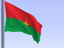 Burkina-faso flag Stock Image