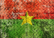 Burkina Faso Flag. Grunge Burkina Faso Flag royalty free stock photos