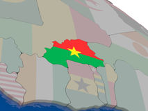 Burkina Faso with flag Stock Images
