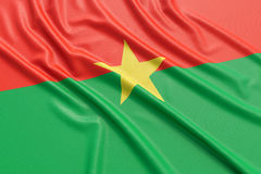 Burkina Faso flag Stock Photography