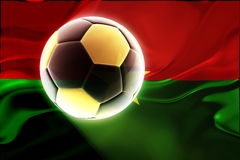 Burkina Faso flag wavy soccer Royalty Free Stock Image