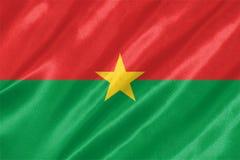 Burkina Faso flagga royaltyfri illustrationer