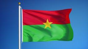 Burkina Faso -Flagge in der Zeitlupe schlang nahtlos sich mit Alpha stock footage