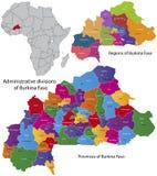 Burkina Faso Karte Lizenzfreies Stockfoto