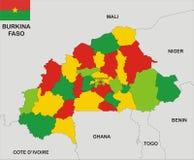 Burkina faso map Stock Image
