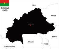 Burkina faso map Stock Photography