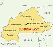 Burkina Faso - map of country Stock Photography
