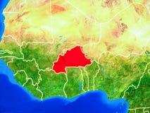 Burkina Faso na terra com beiras ilustração do vetor
