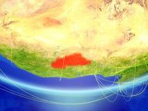 Burkina Faso na terra com rede ilustração stock