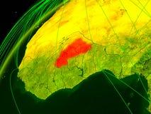 Burkina Faso na terra com rede ilustração royalty free