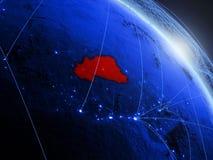 Burkina Faso no globo digital azul azul ilustração royalty free