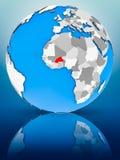 Burkina Faso no globo político imagem de stock