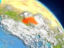 Burkina Faso od orbity Zdjęcie Stock