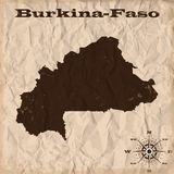 Burkina-Faso old map with grunge and crumpled paper. Vector illustration vector illustration