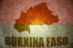 Burkina faso rocznika mapa Zdjęcia Royalty Free