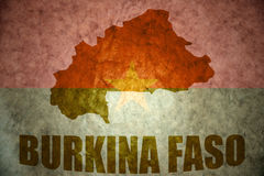 Burkina faso vintage map Royalty Free Stock Photos