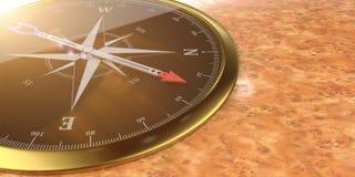 Burl dourado do compasso ilustração stock