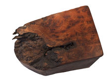 Burl Wood Box Stock Image