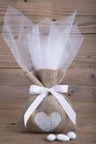 Burlap γαμήλια εύνοια Στοκ φωτογραφία με δικαίωμα ελεύθερης χρήσης