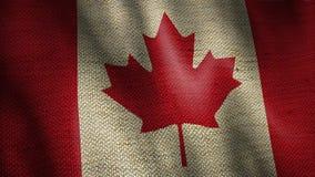 Burlap σημαία του Καναδά διανυσματική απεικόνιση